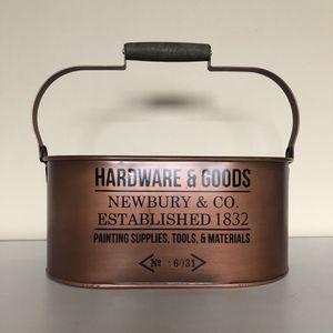 Antiqued Decorative Copper Bucket for Sale in Costa Mesa, CA