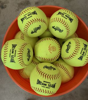 Rawlings NFHS Softballs $300 for 67 Softball's for Sale in Irwindale, CA