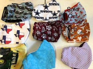 Homemade Washable Masks with Pocket for Sale in Longview, TX