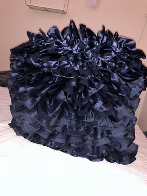 Navy Blue Ruffle Pillow for Sale in Rolla, MO
