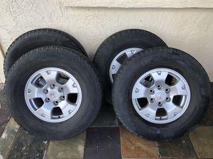 "Michelin LTX A/T P265/70R16 tires on Toyota 6 lug 16x7"" Rims for Sale in Phoenix, AZ"