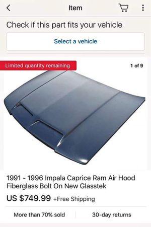 Air ram hood for 91-96 caprice impala for Sale in Battle Creek, MI