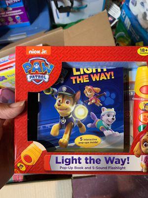 Brand new paw patrol pop up book flashlight set for Sale in Walnut Creek, CA
