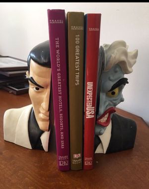 Two Face Bookends - Harvey Dent, used for sale  Batman for Sale