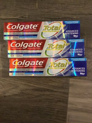 Colgate total SF advanced whitening toothpaste $2 each for Sale in San Bernardino, CA