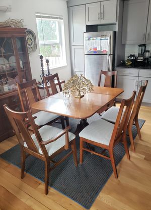Mid Century Dining Table & 6 Chairs Set Solid Wood for Sale in Renton, WA
