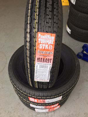 ST 2057515 POWER KING 8PLY TRAILER TIRE FOR SALE $75 EACH for Sale in Tacoma, WA