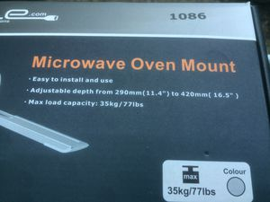 Microwave wall mount kit for Sale in Newark, CA