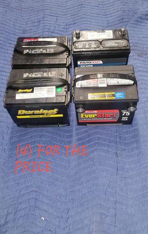 Car batteries plus a Bonus pack for Sale in Rockville, MD