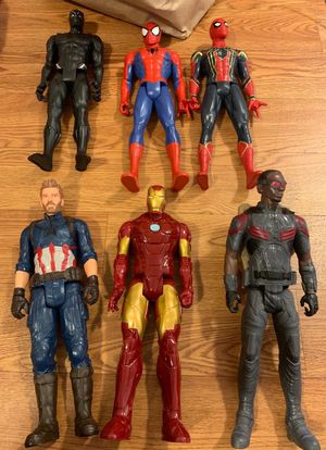 6 large action figure toys for Sale in Seattle, WA