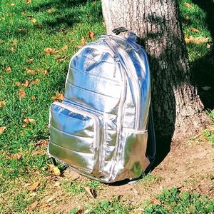 Shiny Silver Laptop Backpack - Brand New for Sale in Denver, CO