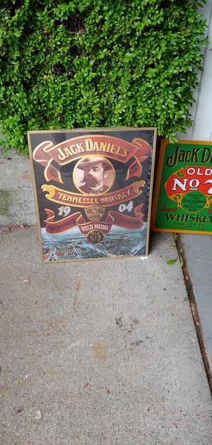 Jack Daniel's memorabilia signs and glass pictures. for Sale in Federal Way, WA