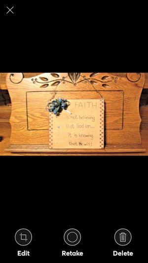 Handmade Faith Plaque -Solid Wood for Sale in Lynchburg, VA