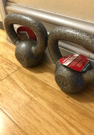 Kettle bell pair 10 lbs for Sale in North Miami, FL