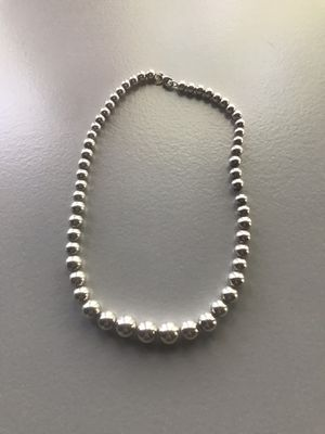 Tiffany & Co HardWese graduated ball necklace in sterling silver for Sale in Washington, DC