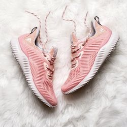 Women's adidas Alphabounce Running Shoe, Size 7.5 (Pink, White, Grey) for Sale in Lorton,  VA