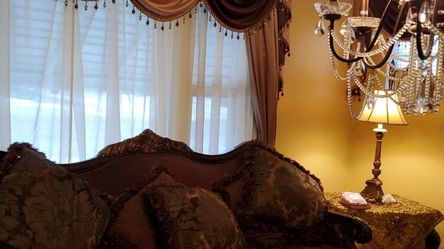 Extra Large Couches, Curtains, Rug Set for Sale in Dearborn,  MI