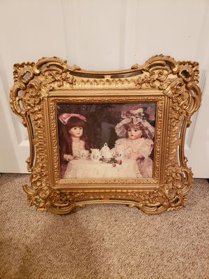 Antique doll picture for Sale in Macomb, MI