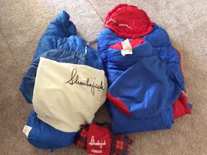 Slumberjack lot- 2 sleeping bags + 1 camping pillow - Central and Thunderbird for Sale in Phoenix, AZ