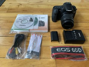 Canon EOS 60D 18MP DSLR w 18-55mm kit lens for Sale in Queens, NY