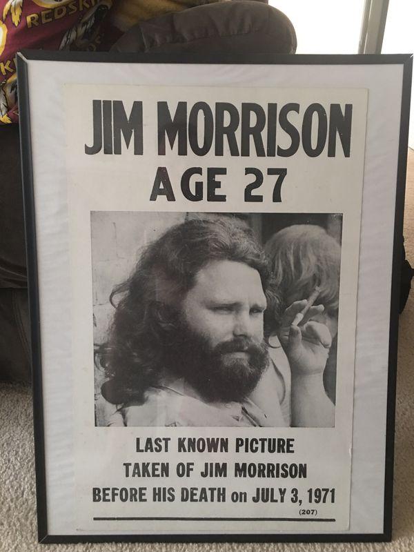 Jim Morrison Poster in frame