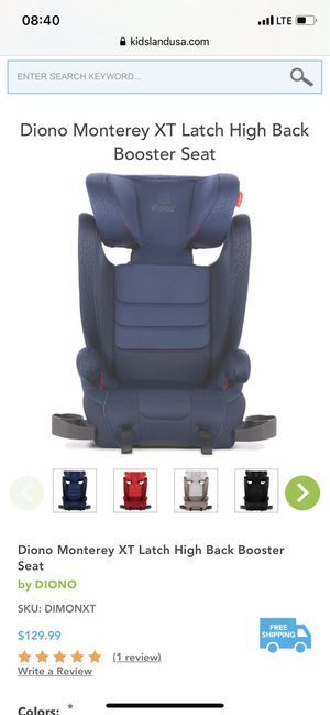 Diono XT latch booster car seat for Sale in Denver, CO