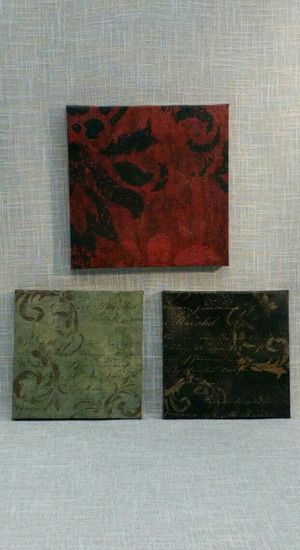 "3 pc. Set Canvas Wall Art, 10""x10"" & 8""x8"" *PICKUP ONLY* home decor, household, pictures, paintings for Sale in Mesa, AZ"