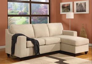 New Vogue beige red brown or green sectional sofa couch for Sale in Miami, FL