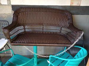 Wicker porch swing for Sale in Riverside, CA