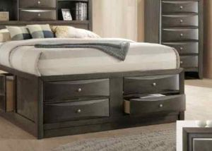 BRAND NEW QUEEN BEDROOM SET INCLUDES BED FRAME DRESSER MIRROR AND NIGHTSTAND ADD MATTRESS ALL NEW FURNITURE BY USA MEXICO FURNITURE 3 DIFERENT COLORS for Sale in Pomona, CA