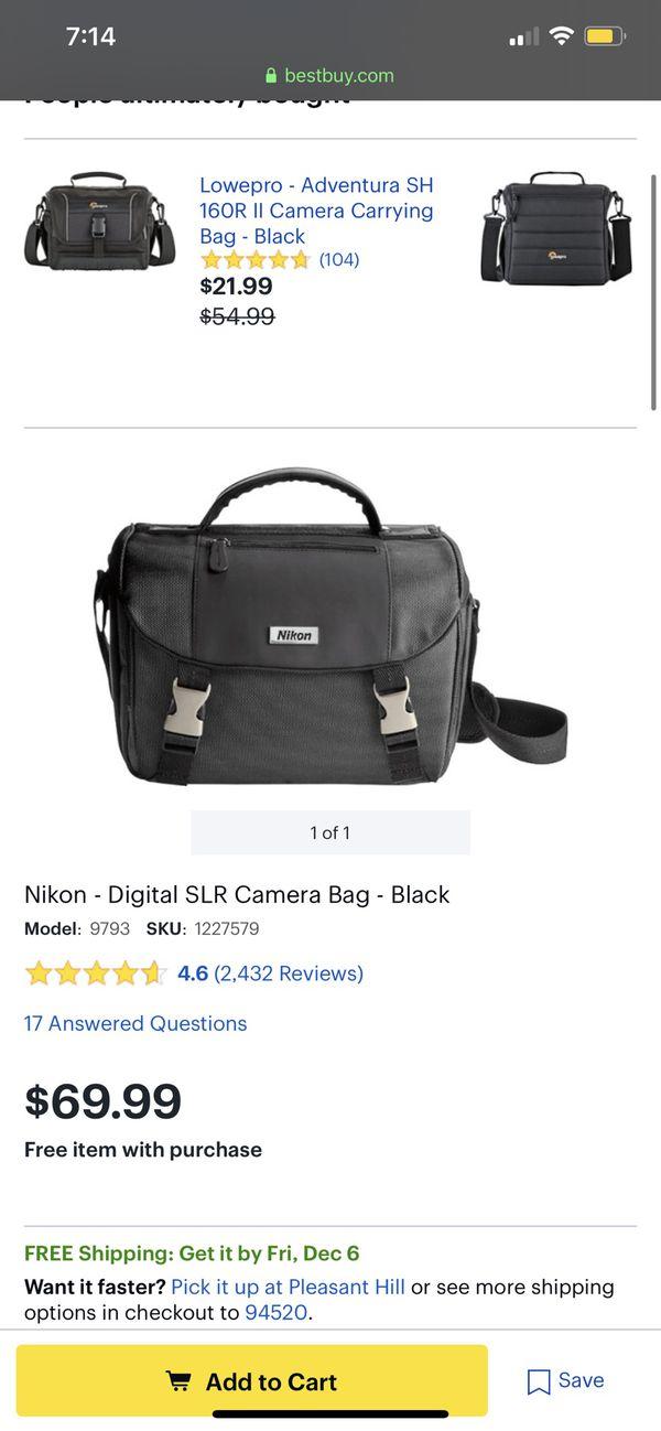 Nikon - Digital SLR Camera Bag - Black
