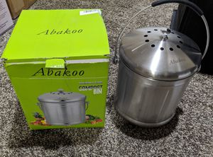 Abakoo Compost Bin 1.8 Gallon 304 Stainless Steel Countertop Kitchen Composter w/ Charcoal Filter for Sale in Murrieta, CA