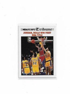 Michael Jordan 1991 NBA Hoops Tribune First NBA Title Card #542 for Sale in Hialeah, FL