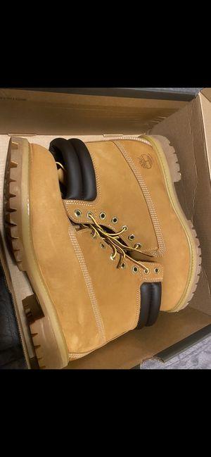 Timberland Size 10.5 Men's 6-inch Premium Wheat Nubuck Waterproof boots for Sale in Alexandria, VA