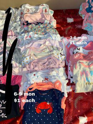 3-6 mon 6-9 mon onesies $1 each for Sale in Buena Park, CA