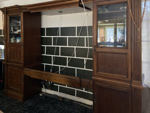 Entertainment center solid wood for Sale in Perris, CA