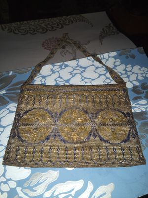 """Gorgeous 1920's Cobalt Blue And Gold Glass Beaded French Purse """"Must See"""" for Sale in Parma, OH"""