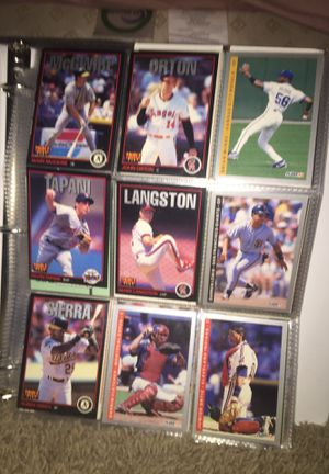 Baseball cards lot 17 pages of baseball cards for Sale in Queen Creek, AZ
