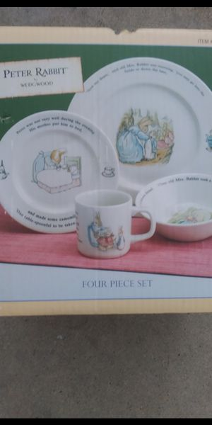 Peter Rabbit 4 piece dining set by wedgwood collectors item VERY RARE ANTIQUES BRAND NEW for Sale in MONARCH BAY, CA