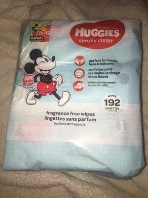 Huggies Wipes Brand New 3 Packages of 64 total of 192 Baby Wipes for Sale in Mesa, AZ