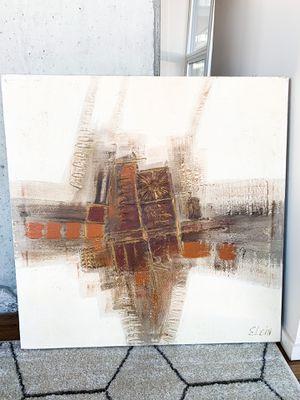 Custom modern abstract- earth tone for Sale in Seattle, WA