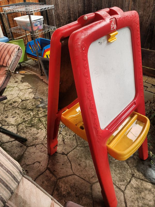 Toddler art painting easel