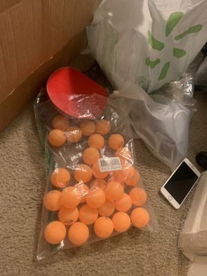 one table tennis paddle and many balls for Sale in Los Angeles, CA