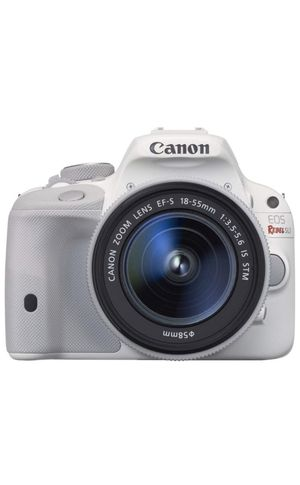 C anon EOS Rebel SL1 Digital SLR with 18-55mm STM Lens (White) for Sale in Chula Vista, CA
