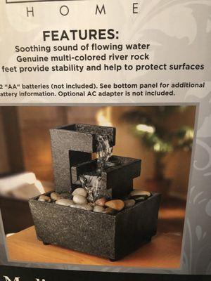 Miniature zen water fountain decor for Sale in Hampton, VA