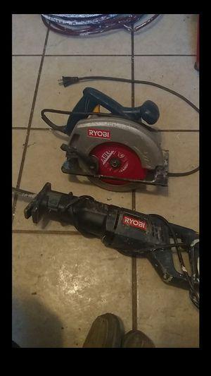 Ryobi reciprocating saw and circular saw for Sale in Columbus, OH