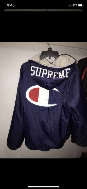 supreme x champion sherpa lined jacket for Sale in Arlington, TX