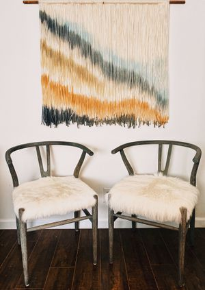 Wishbone Boho Faux Cowhide Chairs for Sale in Los Angeles, CA