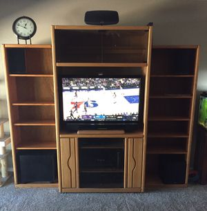 Oak Entertainment Unit for Sale in Las Vegas, NV
