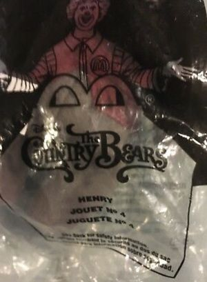 2001 Disney McDonalds The Country Bears Henry In Package Happy Meal Toy for Sale in Phoenix, AZ